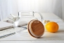 Чайник заварочный стеклянный с бамбуковой крышкой 1000 мл 11