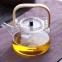 Чайник заварочный стеклянный с деревянной ручкой 1200 мл 0