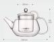 Чайник заварочный стеклянный Kamjove AC-12 900 мл 9