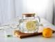 Чайник заварочный стеклянный с деревянной крышкой 1000 мл 5