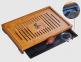 Чабань бамбуковая 43х28х5 см (с поддоном) 2