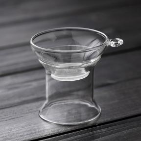 Ситечко для чая с подставкой стеклянное (широкое)