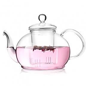 Чайник заварочный стеклянный YiWuYao FH-205 1200 мл