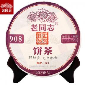 Чай Шу Пуэр Хайвань Лао Тун Чжи 908 121 2012 года 200 г