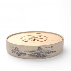 Чабань круглая Горы (керамика/бамбук)