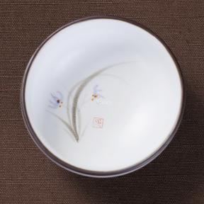Пиала керамическая Орхидея 50 мл (белая)