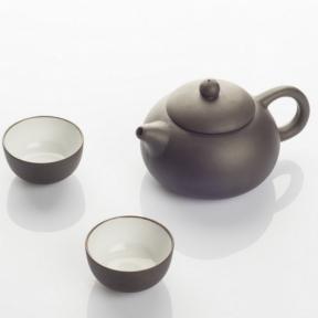 Чайник заварочный керамический и 2 пиалы