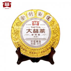 Чай Шу Пуэр Мэнхай Да И Золотые иглы и белый лотос 1401 2014 года 357 г