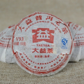 Чай Шу Пуэр Мэнхай Да И V93 101 2011 года 100 г