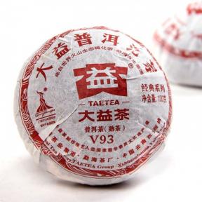 Чай Шу Пуэр Мэнхай Да И V93 003 2010 года 100 г