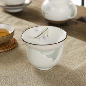 Ситечко для чая с подставкой Орхидея