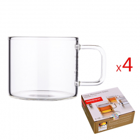 Чашки стеклянные Kamjove K-106 120 мл (4 шт)