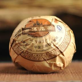 Чай Шу Пуэр Мэнхай Да И V93 902 2009 года 100 г