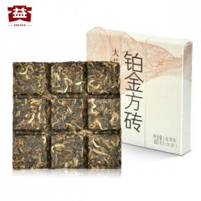 Чай Шен Пуэр Мэнхай Да И Платиновая плитка 301 2013 года 60 г