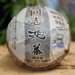 Чай Шу Пуэр Хайвань Лао Тун Чжи 968 121 2012 года 100 г