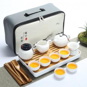 Дорожный набор для чайной церемонии Гунфу Ча из 15 предметов