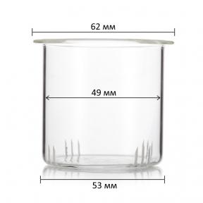 Фильтр стеклянный для заварочного чайника 400 мл (53 мм)