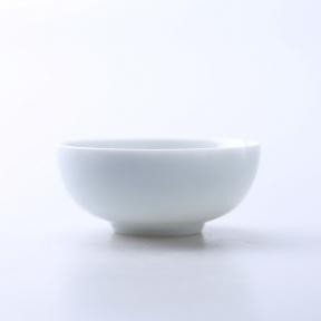 Пиала фарфоровая белая 40 мл (широкая)