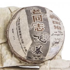 Чай Шу Пуэр Хайвань Лао Тун Чжи 968 111 2011 года 100 г