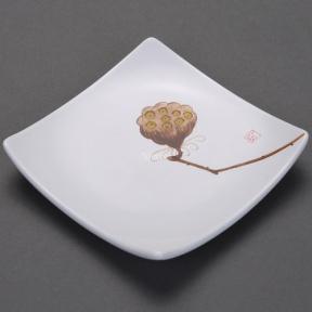 Блюдце керамическое Лотос