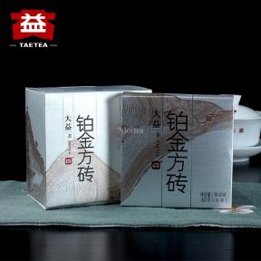 Чай Шен Пуэр Мэнхай Да И Платиновая плитка 1401 2014 года 60 г