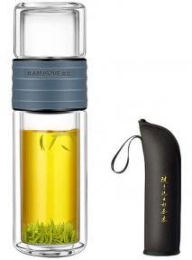 Колба (бутылка) для заваривания чая Kamjove TP-109 238 мл (серый космос)