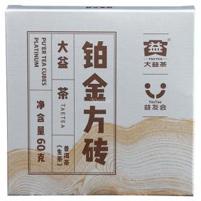 Чай Шен Пуэр Мэнхай Да И Платиновая плитка 1901 2019 года 60 г