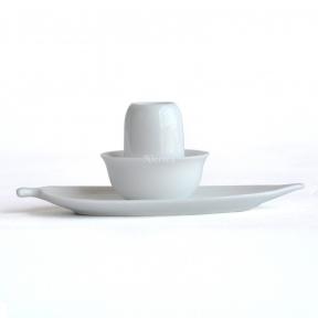 Чайная пара фарфоровая белая