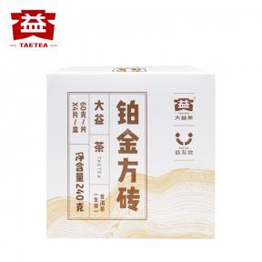 Чай Шен Пуэр Мэнхай Да И Платиновая плитка 1701 2017 года 60 г