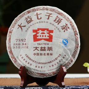 Чай Шу Пуэр Мэнхай Да И 7592 201 2012 года 357 г