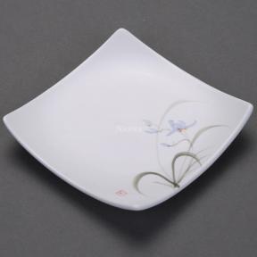 Блюдце керамическое Орхидея