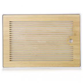 Чабань бамбуковая 36х25х2.8 см (белая)